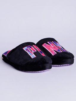 Pantufa-Feminina-Preto-pink-38-39
