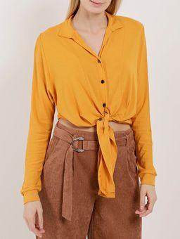 Camisa-Manga-Longa-Feminina-Autentique-Amarelo-P