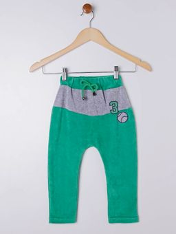 Calca-Moletom-Infantil-Para-Menino---Verde-1