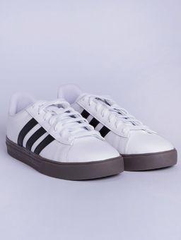 Tenis-Casual-Masculino-Adidas-Daily-2-Branco-preto-marrom-41