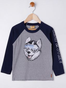 Camiseta-Manga-Longa-Infantil-Para-Menino---Cinza-azul-Marinho-1
