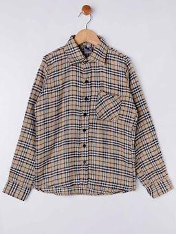 Camisa-Xadrez-Manga-Longa-Juvenil-Para-Menino---Bege-16