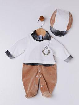 Enxoval-Infantil-Para-Bebe-Menino---Branco-marrom-P