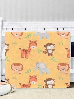 Cobertor-para-Bebe-Amarelo