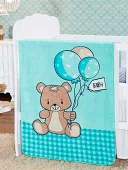 Cobertor-Infantil-Para-Bebe---Verde