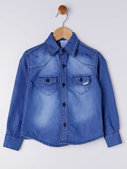 Camisa-Jeans-Infantil-Para-Menino---Azul-1