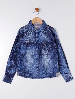 Camisa-Jeans-Manga-Longa-Gangster-Infantil-para-Menino---Azul