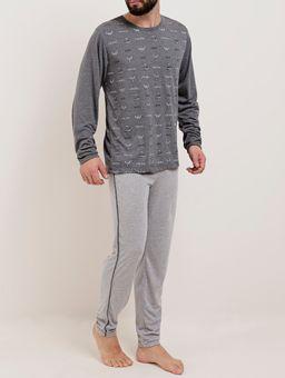 Pijama-Longo-Masculino-Chumbo-cinza