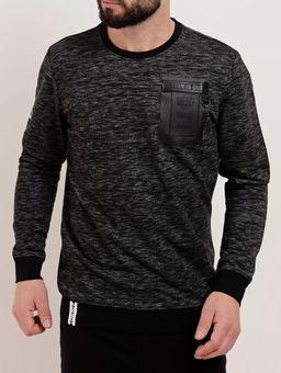 Camiseta-Moletinho-Manga-Longa-Masculina-Preto-P