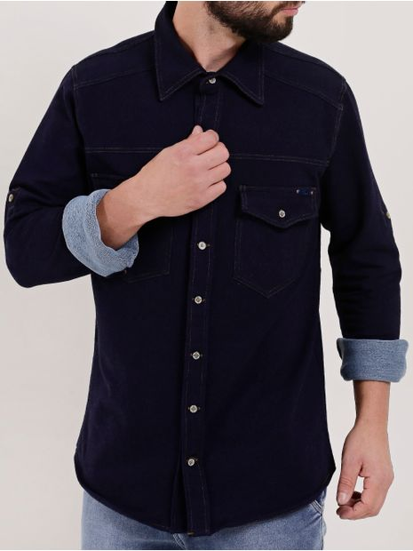 Camisa-Jeans-Moletom-Manga-Longa-Masculina-Azul