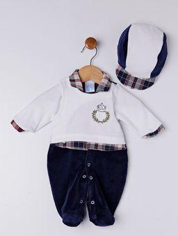 Enxoval-Infantil-Para-Bebe-Menino---Branco-azul-Marinho-P