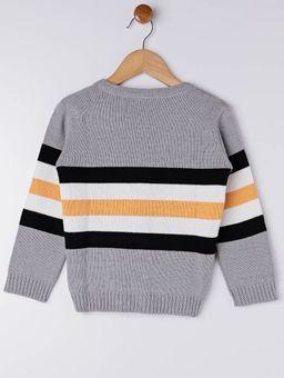 Cardigan-Tricot-Infantil-para-Menino---Cinza-amarelo