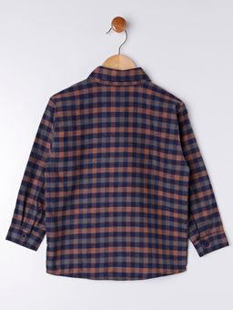 Camisa-Xadrez-Infantil-Para-Menino---Cinza-laranja-1