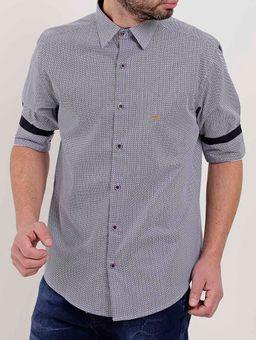 Camisa-Manga-¾-Masculina-Azul