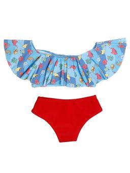 Biquini-Infantil-Para-Menina---Azul-vermelho