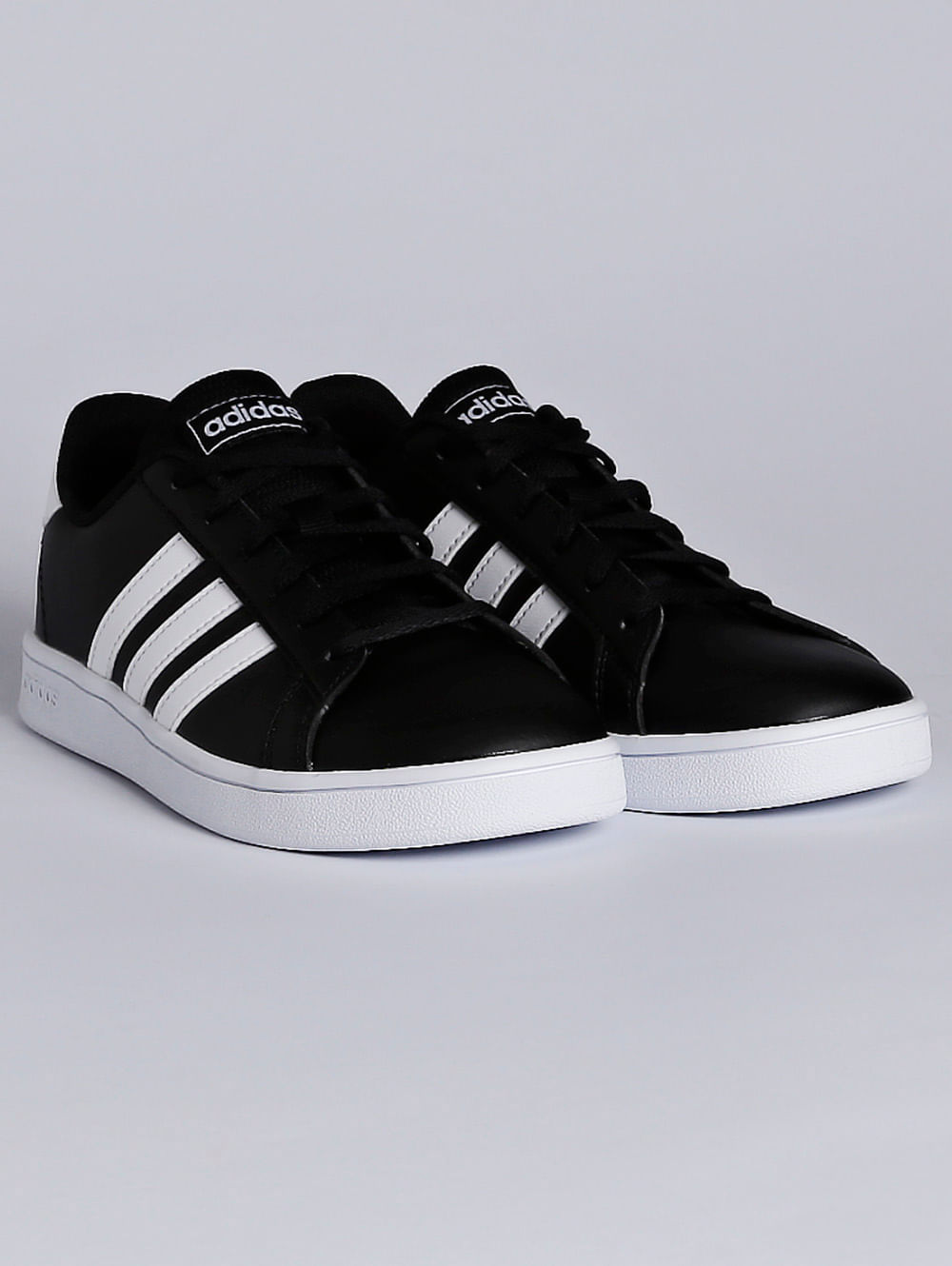 promo codes amazing selection meet Tênis Adidas Grand Court Juvenil para Menino - Preto/branco