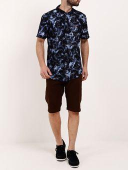 Camisa-Manga-Curta-Masculina-Preto-azul-Marinho-P