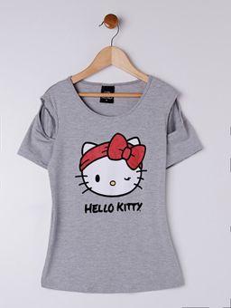 Blusa-Manga-Curta-Hello-Kitty-Juvenil-Para-Menina---Cinza-16
