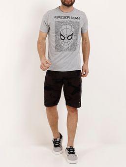 Camiseta-Manga-Curta-Masculina-Marvel-Cinza-P