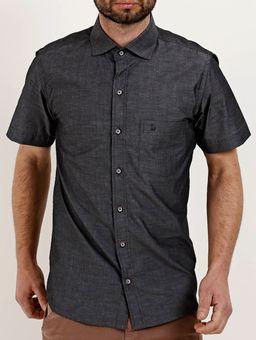 Camisa-Manga-Curta-Masculina-Chumbo