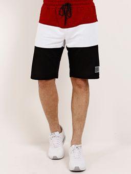 Bermuda-Moletom-Masculina-Vermelho-preto