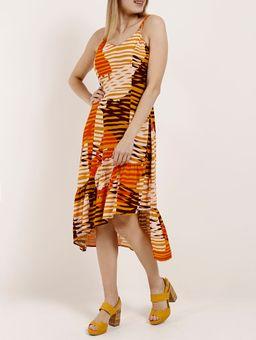 Vestido-Midi-Feminino-Autentique-Bege-amarelo-P