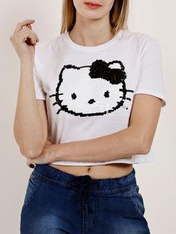 Camiseta-Manga-Curta-Feminina-Hello-Kitty-Branco-P