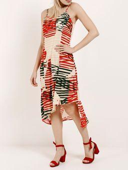 Vestido-Midi-Feminino-Autentique-Bege-vermelho