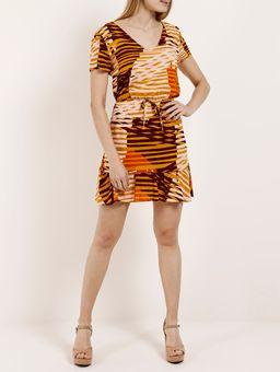 Vestido-Feminino-Autentique-Bege-laranja-P