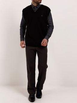 Camisa-Skinny-Manga-Longa-Masculina-Cinza-P