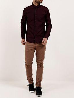 Camisa-Skinny-Manga-Longa-Masculina-Vinho-P