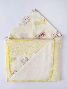 Toalha-Infantil-com-Capuz-Amarelo