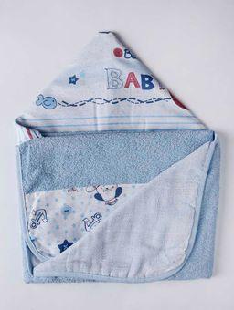 Toalha-Infantil-com-Capuz-Azul