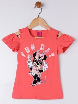 -Blusa-Manga-Curta-Disney-Infantil-Para-Menina---Coral-6