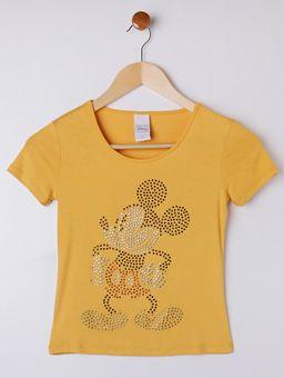 Blusa-Manga-Curta-Disney-Juvenil-Para-Menina---Amarelo-16