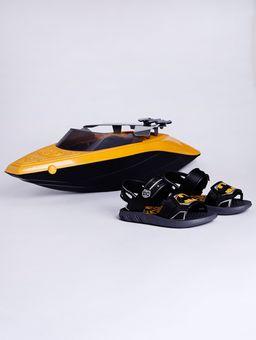 Sandalia-Batman-Boat-Infantil-para-Menino---Cinza-preto-amarelo