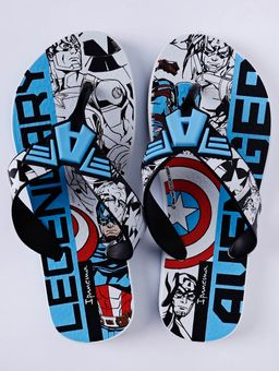 Chinelo-Ipanema-Avengers-Infantil-Para-Menino---Branco-preto-azul-25-26