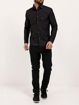 Camisa-Skinny-Manga-Longa-Masculina-Preto
