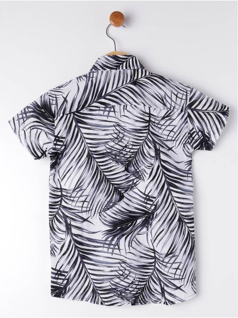 Camisa-Manga-Curta-Infantil-Para-Menino---Branco-preto-6