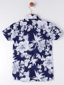 Camisa-Manga-Curta-Infantil-Para-Menino---Azul-Marinho-branco-6