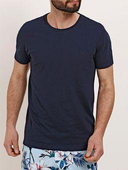 Camiseta-Manga-Curta-Masculina-Azul-Marinho