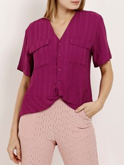Camisa-Manga-Curta-Feminina-Autentique-Roxo-P