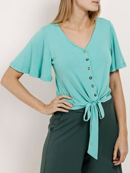 Camisa-Manga-Curta-Feminina-Verde-P