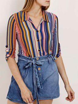 Camisa-Manga-3-4-Feminina-Autentique-Azul-P