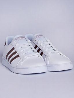 Tenis-Adidas-Grand-Court-Juvenil-para-Menina---Branco