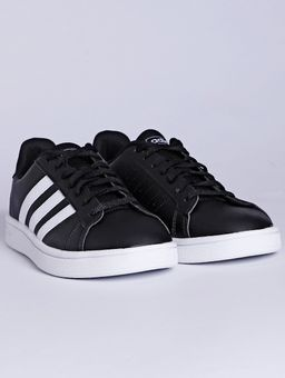 Tenis-Casual-Feminino-Adidas-Grand-Court-Base-Preto-branco-34