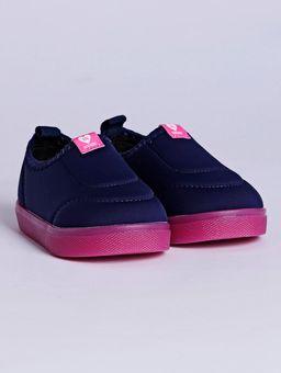 Tenis-Slip-On-Molekinha-Infantil-para-Bebe-Menina---Azul-Marinho