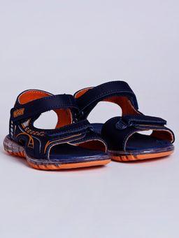 Sandalia-Kidy-com-Led-Infantil-para-Bebe-Menino---Azul-laranja