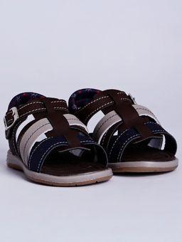 Sandalia-Kidy-Infantil-Para-Bebe-Menino---Marrom-azul-Marinho-18