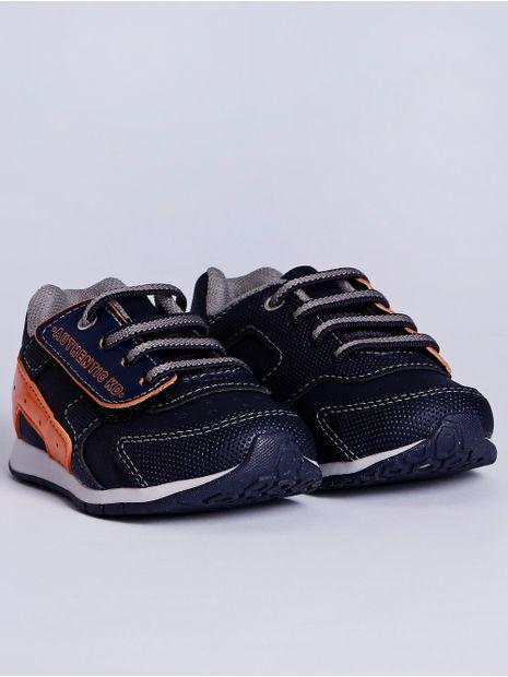 Tenis-Kidy-Infantil-Para-Bebe-Menino---Azul-Marinho-laranja-23